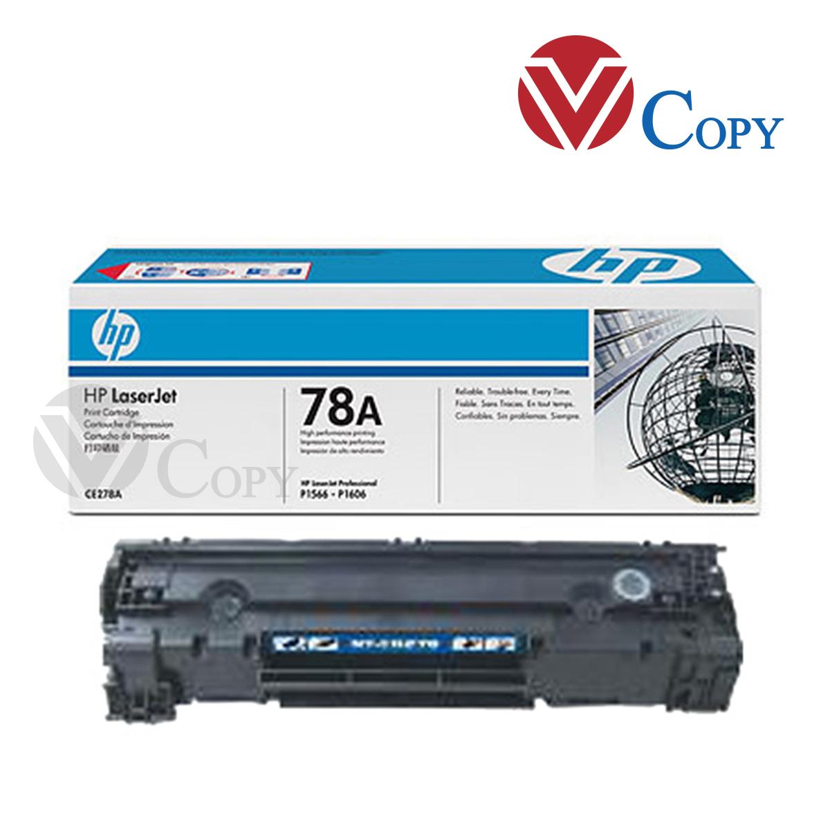 Hộp mực Thương hiệu, mực 78A dùng cho máy in HP Lasjet P1566, P1606DN, M1536DNF và máy in Canon MF4400